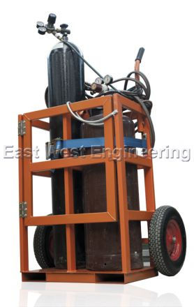 TGC2 Gas Cylinder Trolley (2 Bottles) Craneable