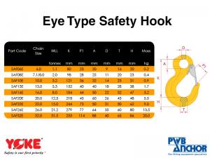 Safety Hook (Eye type) | Lifting Equipment | Forklift Equipment | The Lifting Company