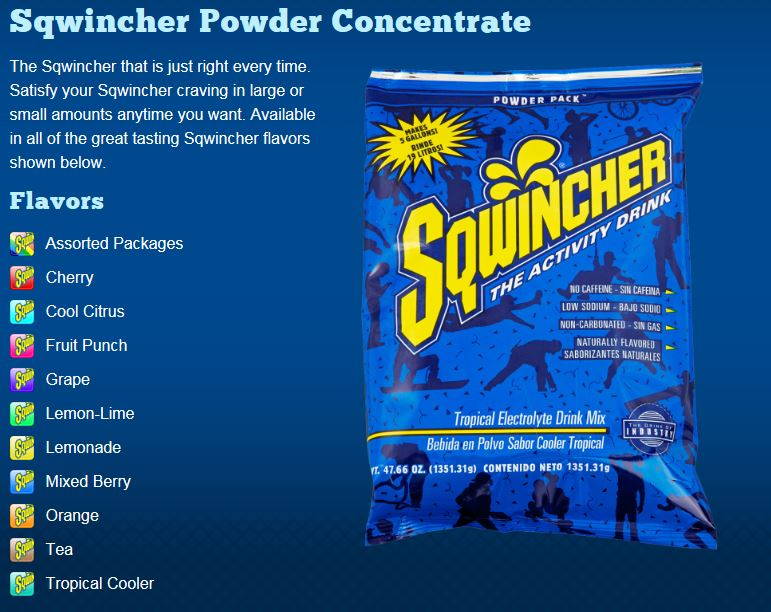 Sqwincher Powder Concentrate