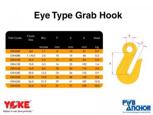 Grab Hook (Eye type) | Lifting Equipment | Forklift Equipment | The Lifting Company