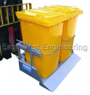 NWB-T2 Wheelie Bin Tipper | Lifting Equipment | Forklift Equipment | The Lifting Company
